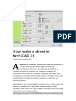 How Make a Street in ArchiCAD 21