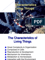 characteristics of living thing