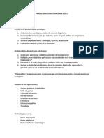 Resumen Dirección Estratégica 2018-2