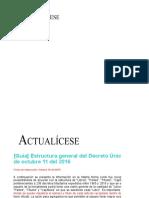 Actualicese Estructura Decreto unico tributario 1625-16