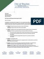 19 0909 - Poehler Record Request Response