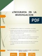 Etnografia en La Investigacion