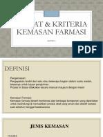 3-Syarat & Kriteria Kemasan Farmasi