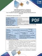 Guía de actividades y rubrica de evaluación-Fase 5-Realizar Evaluación final POA, Síntesis del desarrollo del Proyecto.docx