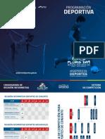 Fixture VIII Juegos Plurinacionales Primaria Cobija-Pando