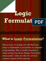 Logic Formulation