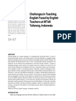 Challenges in Teaching Taliwang