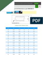 Carbon Steel Pipe Inch Dimensions as Per Asme b36 10