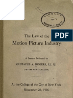 Law of the Motion Picture Industry