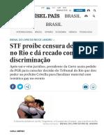 STF Proíbe Censura de Livros No Rio e Dá Recado Contra Discriminação _ Brasil _ EL PAÍS Brasil