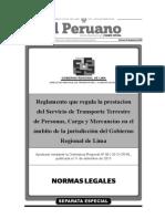 Reglamento Que Regula La Prestacion Del Servicio de Transpor Anexo Ordenanza Regional n 001 2013 Cr Rl 1259716 1