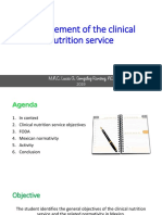 Management of the Clinical Nutrition Service