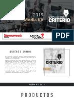 Media kit del Grupo Editorial Criterio con Newsweek y Animal Politico