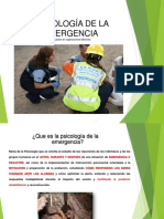Psicologia de La Emergencia