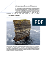 Los 10 Pilares de Mar Mas Famosos Del Mundo