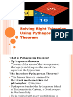 Solving Triangles Using Pytagorean Theorem