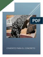 Cemento Para El Concreto