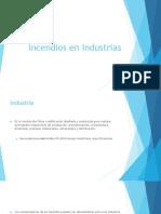 Incendios en Industrias