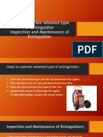 Steps to Operate Wheeled Type of Extinguisher