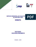 ESTUDIO SOCIOECONOMICO SEMAPA