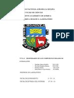 Informe de Laboratorio 1 Propiedades de Compuestos Organicos