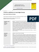 Criterios requeridos en toxicólogo forense