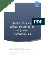 Mision+,Vision+y+Politicas+de+Calidad
