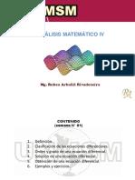 Semana N° 01 [ Análisis Matemático IV ]
