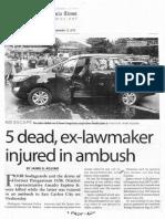 Manila Times, Sept. 12, 2019, 5 dead ex-lawmaker injured in ambush.pdf