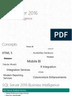 BI Enhancement in SQL Server 2016