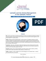 Epilepsy and dental management