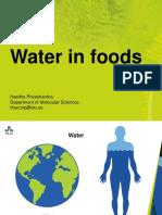 Water in Foods