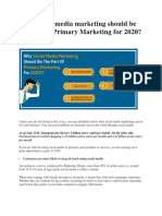 Why Social Media Marketing Should Be the Part of Primary Marketing for 2020