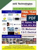 Civil Engineering Project List 2019-20_IGEEKS TECHNOLOGIES