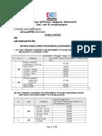 Revised Public Tariff o w e f 08.03. 2019