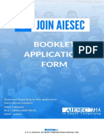 AIESEC in South Tangerang Member Application Form Booklet 2019