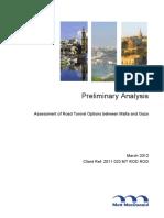 Preliminary Analysis - Assessment of Road Tunnel Options Between Malta and Gozo [Mott MacDonald]