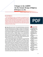 Recommended Changes to the AASHTO Specifications for the Seismic Design of Highway Bridges