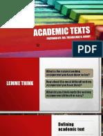 Academic Texts
