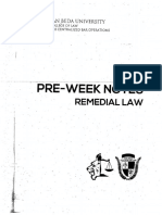 2018 Preweek Remedial Law Beda