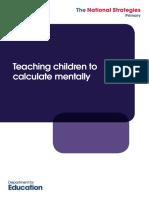 Teshing Children Calculate Mentaly
