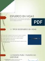 Esfuerzo en Vigas