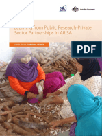 Learning from Public-Private Sector Partnership in Agriculture Research and Innovation System