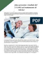 Daiichi Sankyo Presenta i Risultati Del Farmaco U3-1402 Nel Trattamento Di NSCLC