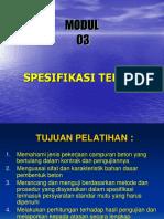 Modul - 03 Spesifikasi Teknis