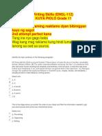 Reading and Writing Skills ENGL 112 by Kuya Piolo