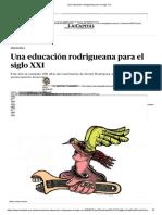 Una Educación Rodrigueana Para El Siglo XXI