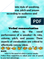 Style of Speaking