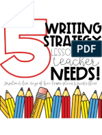 5 Writing Strategy Lessons Every Teacher Needs