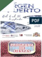 Programa Fiestas Virgen Del Puerto 2019